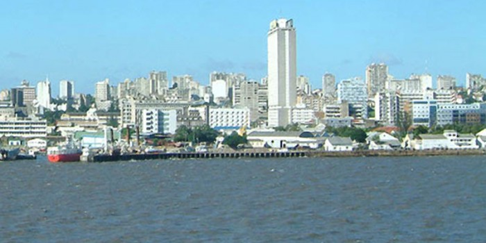 [ Maputo skyline from cruiseship East Africa: Photo by Andrew Moir. This work is licensed under the Creative Commons Attribution-ShareAlike 2.5 License ]